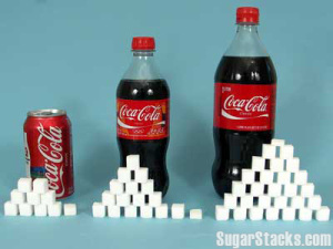 The recommended daily allotment of sugar is 8 teaspoons for a male adult, 6 for a female adult, and 2-3 for a child.